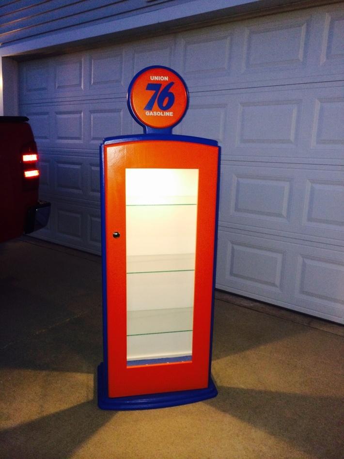 Gas Pump Curio Cabinet