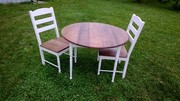 Red oak table and chairs