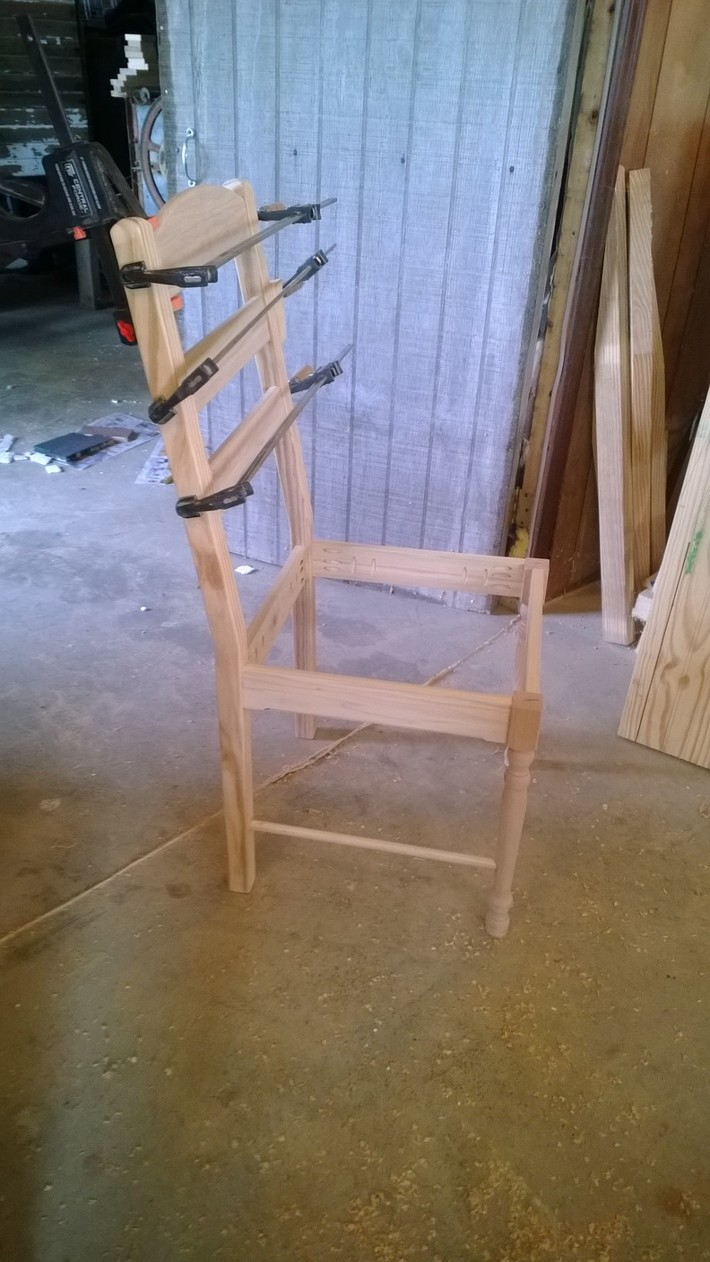 Chairs in progress