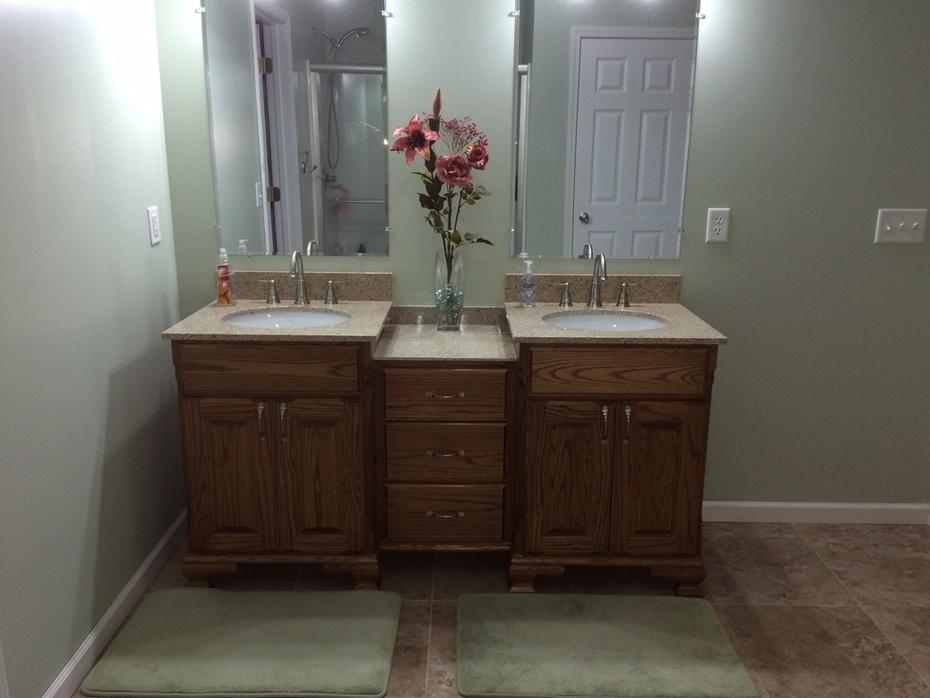 Master Bath Vanity Installed