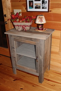 Dumpster Barn Siding Wood becomes a cabinet