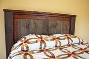 Dumpster Barn Siding Wood becomes Queen size Bed