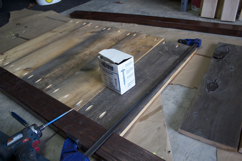 Dumpster Barn Siding Wood- become Queen Size Bed