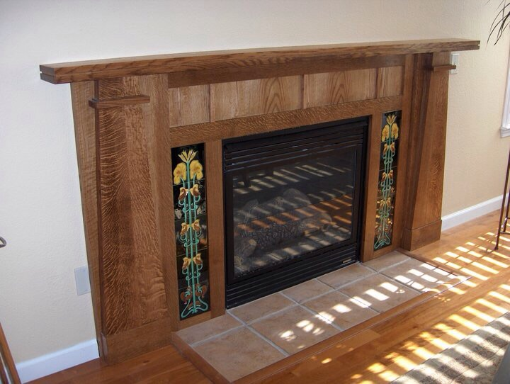 Craftsman-Style Fireplace Surround