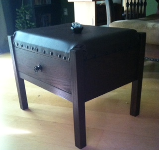 Mission Foot Stool with Drawer