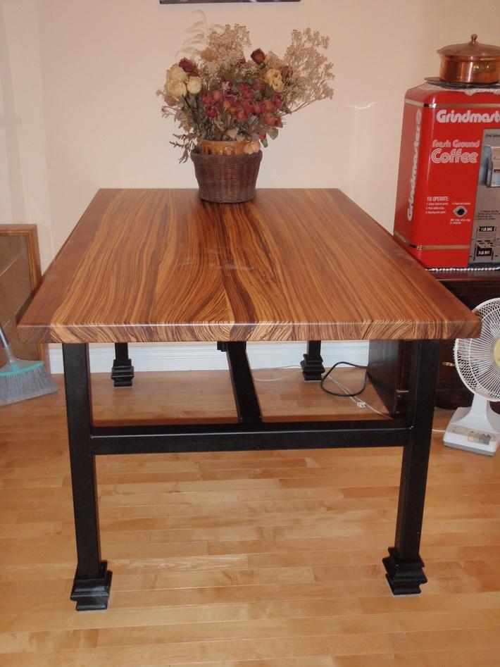 Zebra Wood Dining Room Table