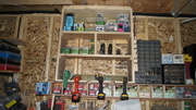 drill and fastener storage unit..