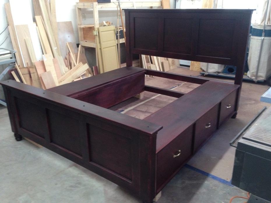 King size six drawer storage bed