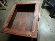 shadow-box side table