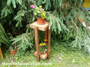 Plant Stand with Tile Tops