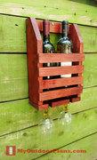 Wine Shelf with Glass Rack