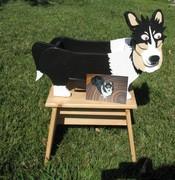 Sheltie Dog Planter/Kleenex Box