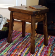 "Plow & Hearth Knock Off ""Elmwood Stool"""