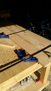 Constructing the panel of the bench top