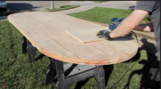 Jig for Cutting Half Circles in Racetrack Table