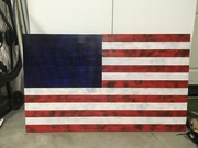 Rustic Flag (Aged White)