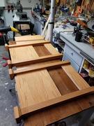 Panels to leg using Kreg screws