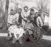 Hallock Class of 1961 - several boys with their 5th grade teacher