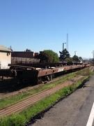 "Long ""flatcars"" ? In Petaluma on Hopper St."