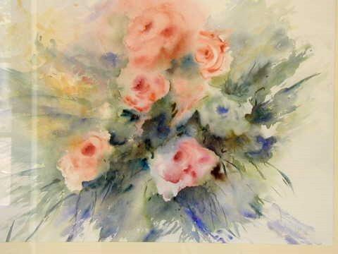 auquarel rozen