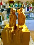 Sculpture céramique dans mon atelier.