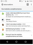 Mijn addons voor Firefox - Android