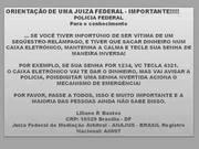 ROUBO EM CAIXA DE BANCO - aviso judicial