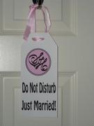 Just Married Door Sign