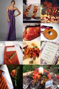 Burnt Orange & Purple Inspiration Board
