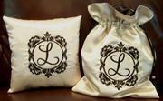 Custom Monogram Ring Pillow and Money Bag