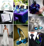 Peacock blue and purple inspiration board