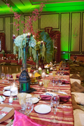 green pink india style table