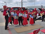 MECCA accordionist at Dodge dealership open house