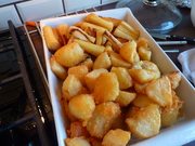 Roast Potatoes and Honey Glazed Parsnips