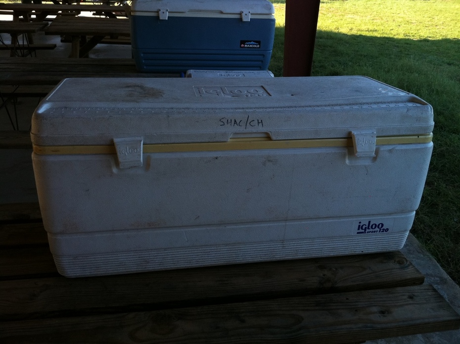 Ice chest large white