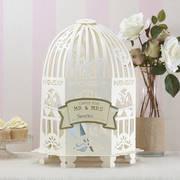 original ivory birdcage wedding card post box