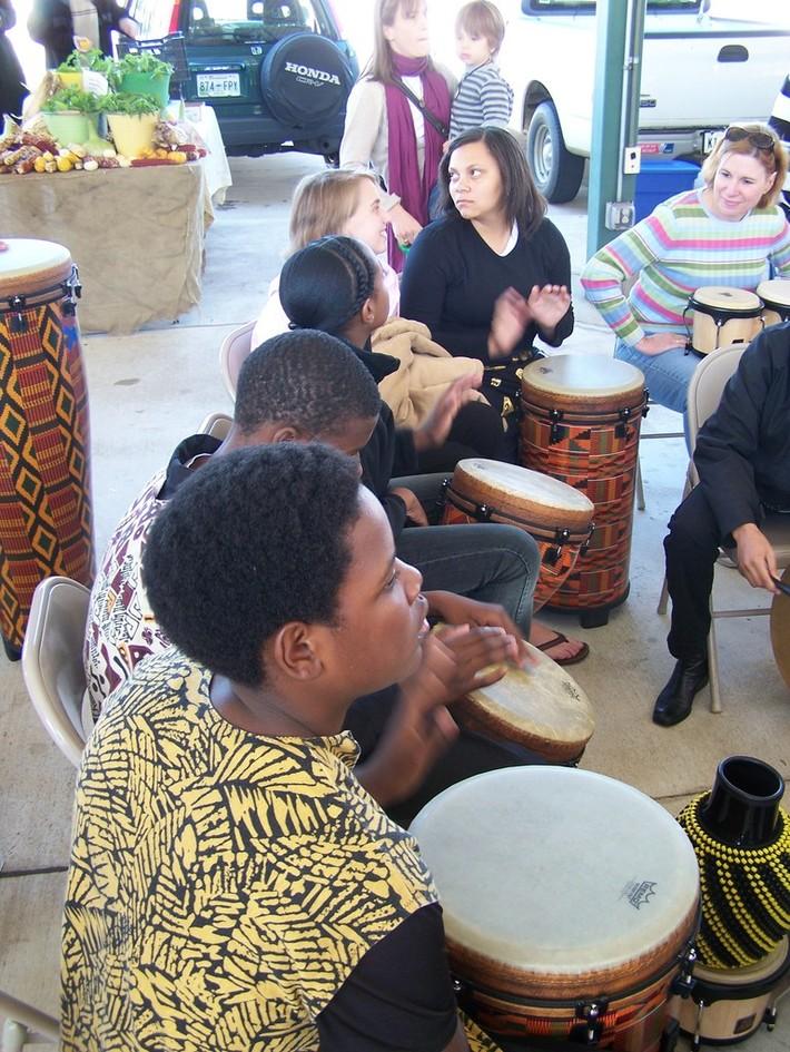 World Drum Squad at the Memphis Farmers Market