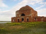 Acient ruins cherch in old kazak fortress