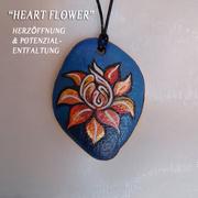 """Agnya Amulette """"HEART FLOWER""""  - Herzöffnung und Potential-Entfaltung"""