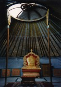 Throne for Paul Pena in Tuva 1995