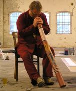 Jens playing Didgeridoo