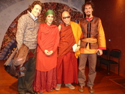 With a lama after a concert