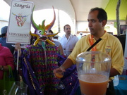 Ponce Carnival devil at Saborea Puerto Rico food festival