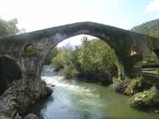 The Roman Bridge in Cangas de Onís, Spain