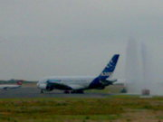 Water salute to Airbus 380