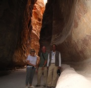 Satisfied Clients with they tour guide at Petra
