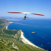 Fly over the hills,beaches and sea