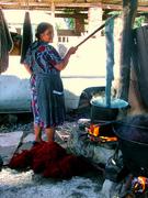 Alta Gracia dyeing wool