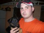 my dog Levi and I