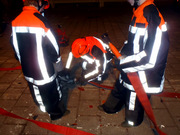Training 'yong' fire fighters (from our youth department)
